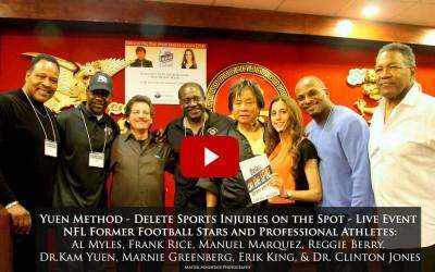 FREE – RECORDED LIVE IN L.A. DELETE ON THE SPOT, PAIN & STRESS!  FEATURING NFL FOOTBALL PLAYERS WITH SPORTS INJURIES!