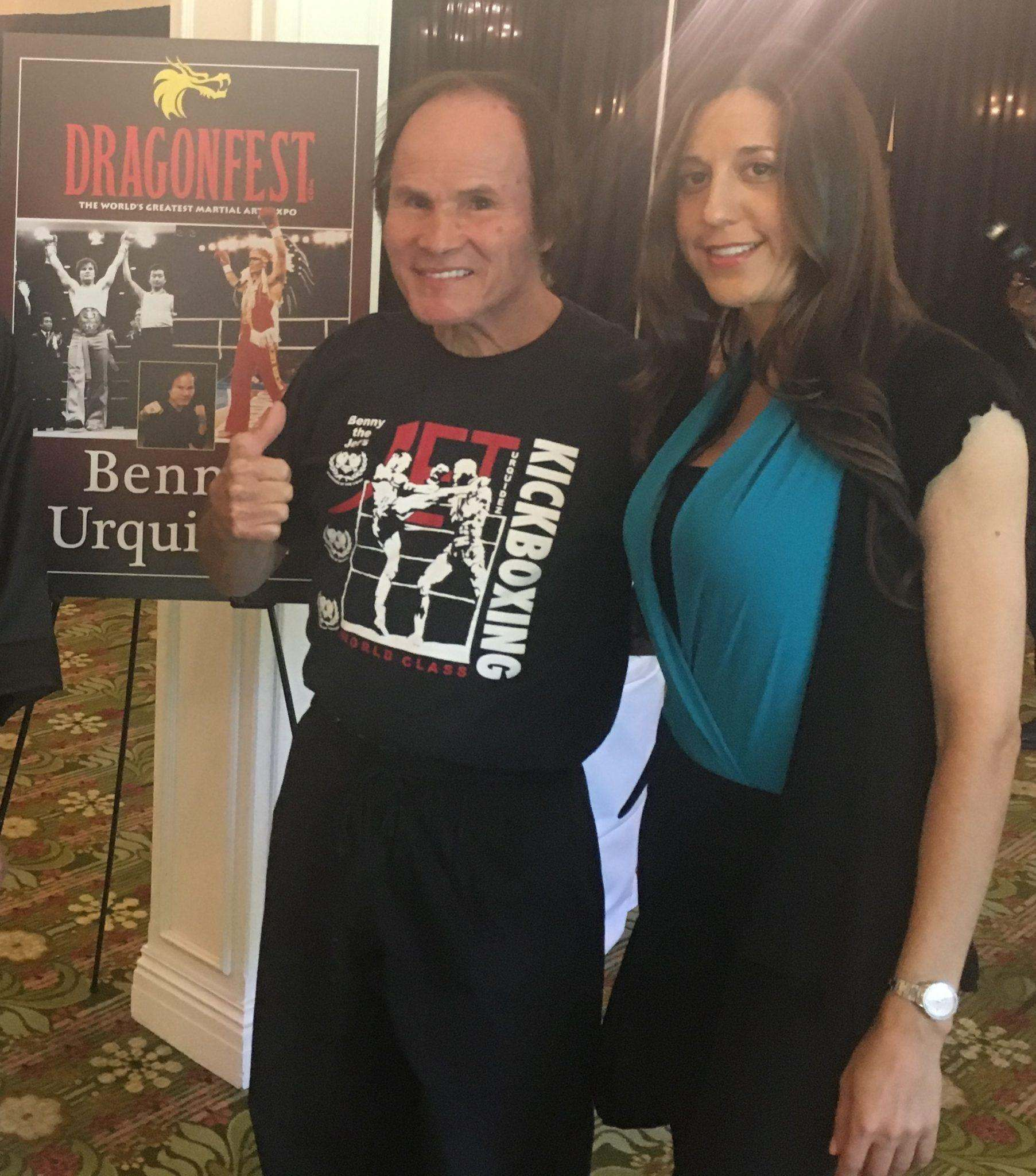 Marnie Greenberg and Benny Urquidez