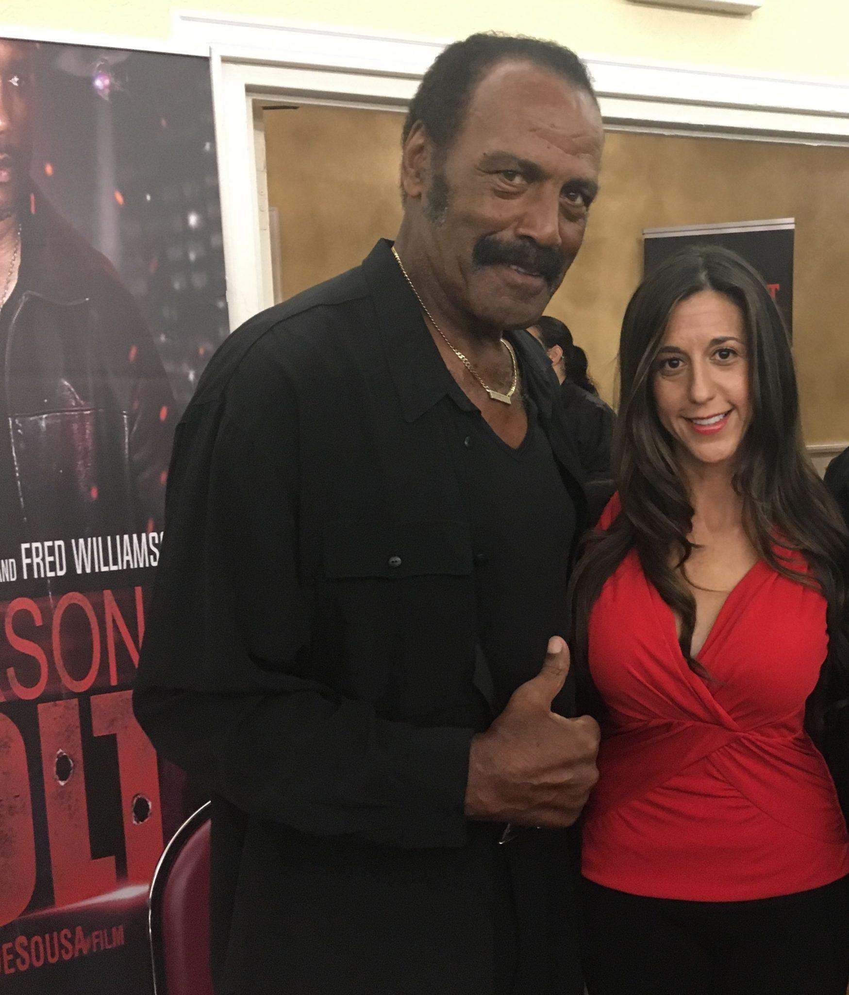"Marnie Greenberg and  Fred  ""The Hammer"" Williamson"