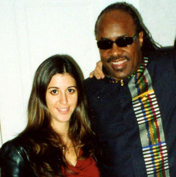 Marnie Greenberg and Stevie Wonder
